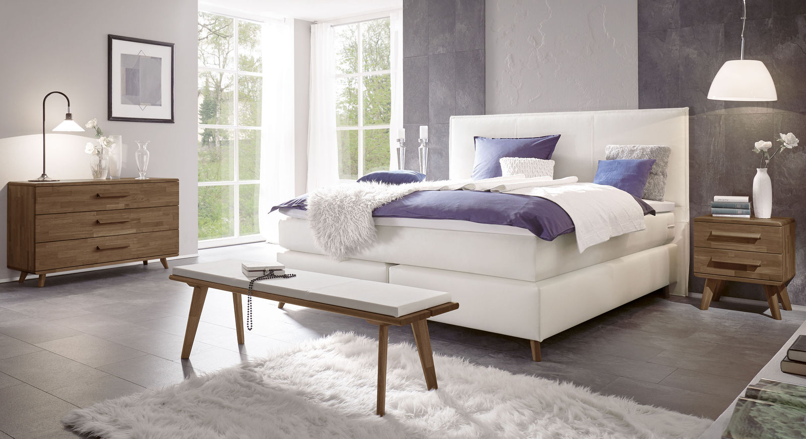 Kommode Moroni mit passenden Schlafzimmer-Möbeln
