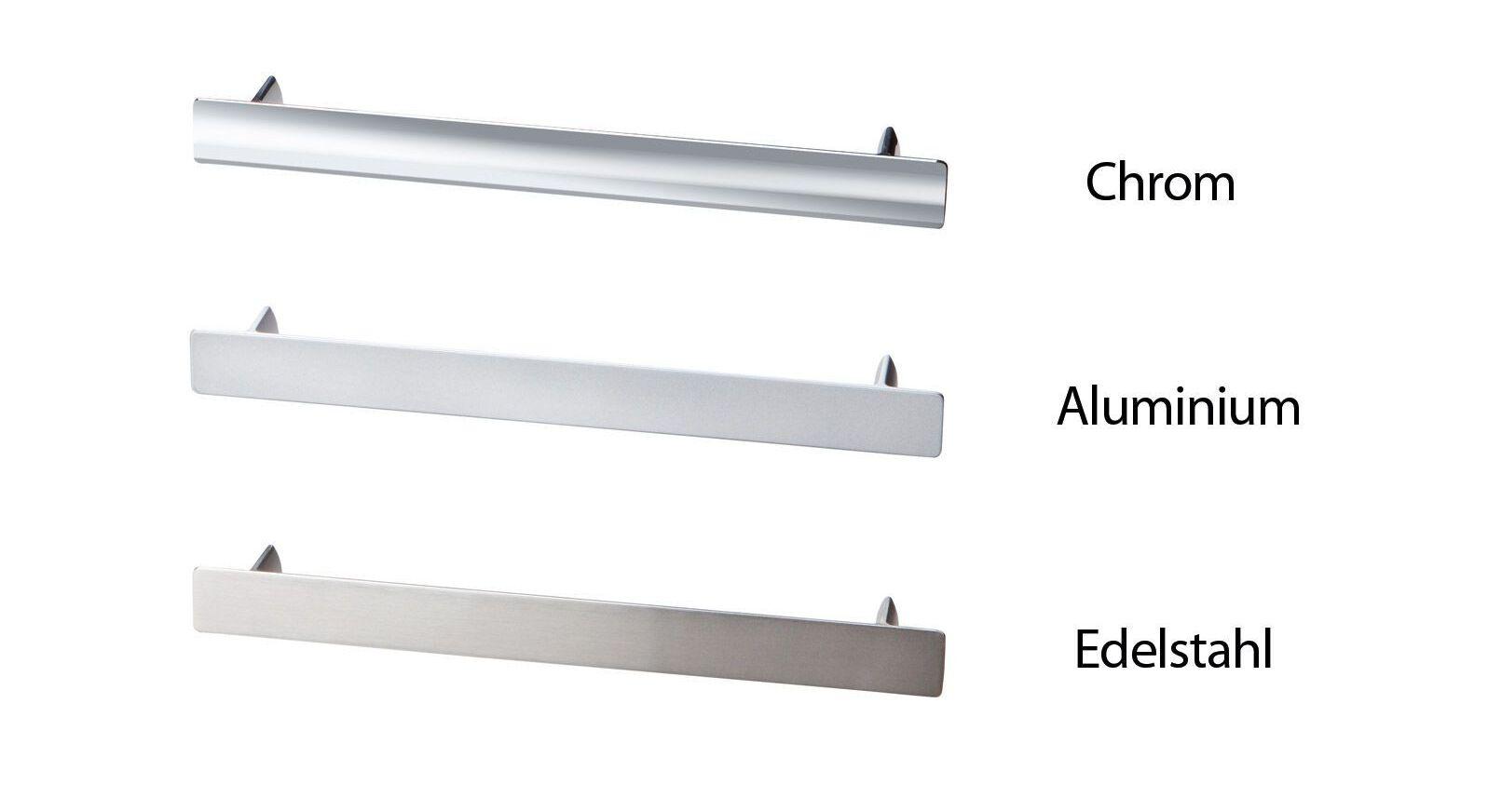 Übersicht der Kommodengriffe in Chrom, Aluminium und Edelstahl