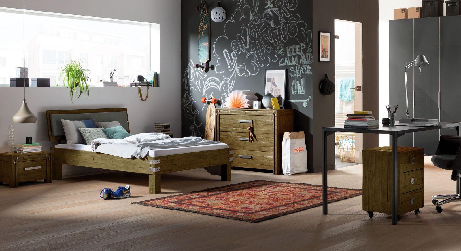 Komplett-Jugendzimmer Felipe mit verschiedenen Möbeln