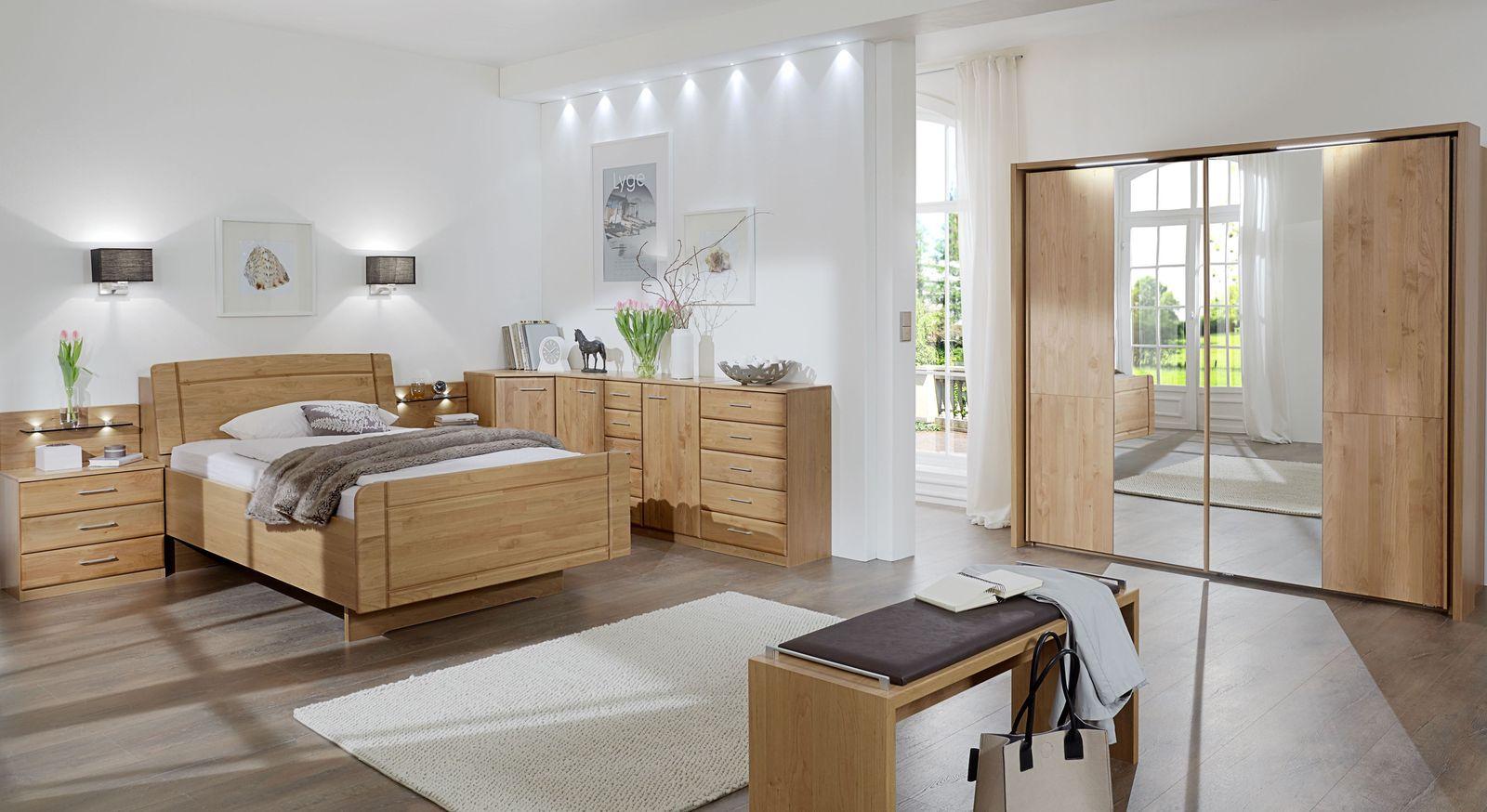 Komplett-Schlafzimmer Ageo aus Erlenholz