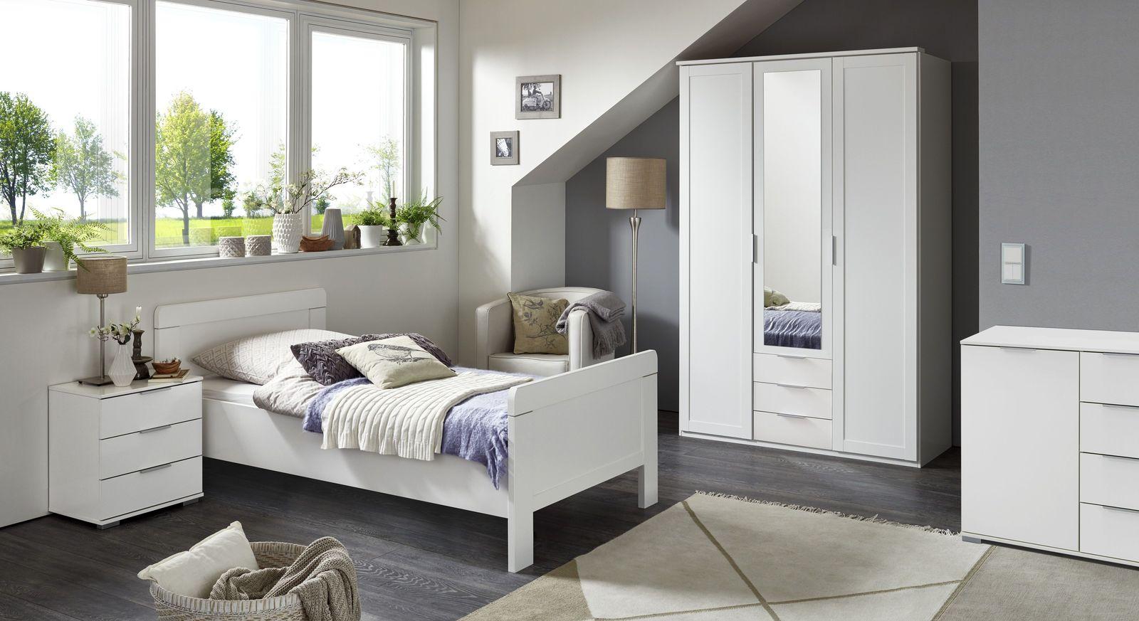 Komplett-Schlafzimmer Aradeo mit Komfort-Einzelbett