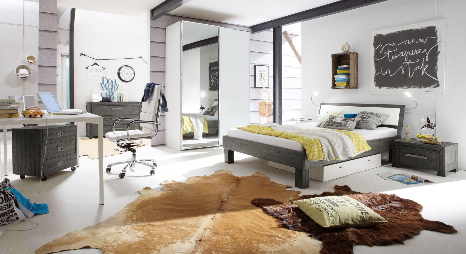 Trendiges Komplett-Schlafzimmer Caldera im Factory-Look