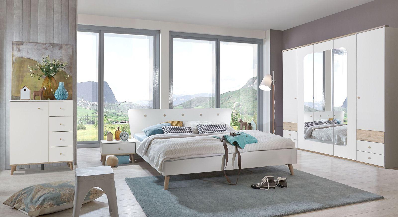 Schlafzimmer Komplett Gunstig Im Angesagten Retrodesign Corvara