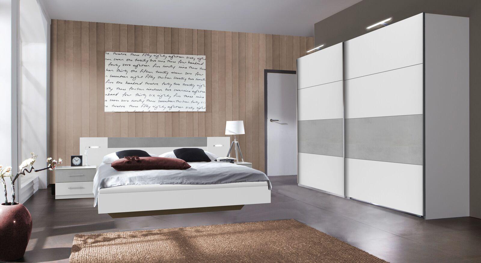 Komplett-Schlafzimmer Dahlen in alpinweißem Dekor