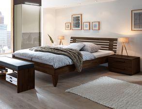 Komplett Schlafzimmer Fontana Mit Massivholzbett