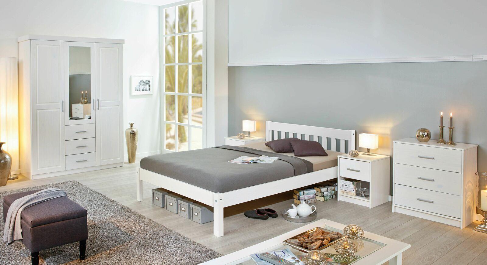 Modernes Komplett-Schlafzimmer Genf in Weiß