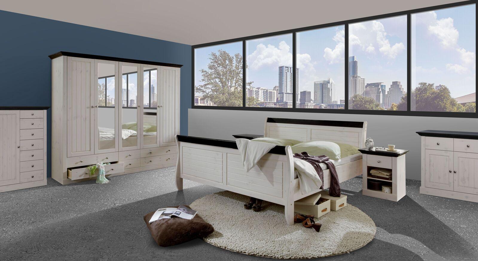 Komplett-Schlafzimmer Imala im trendigen Landhausstil