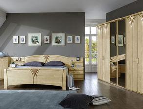 Klassisches Komplett Schlafzimmer Karia Aus Birkenholz