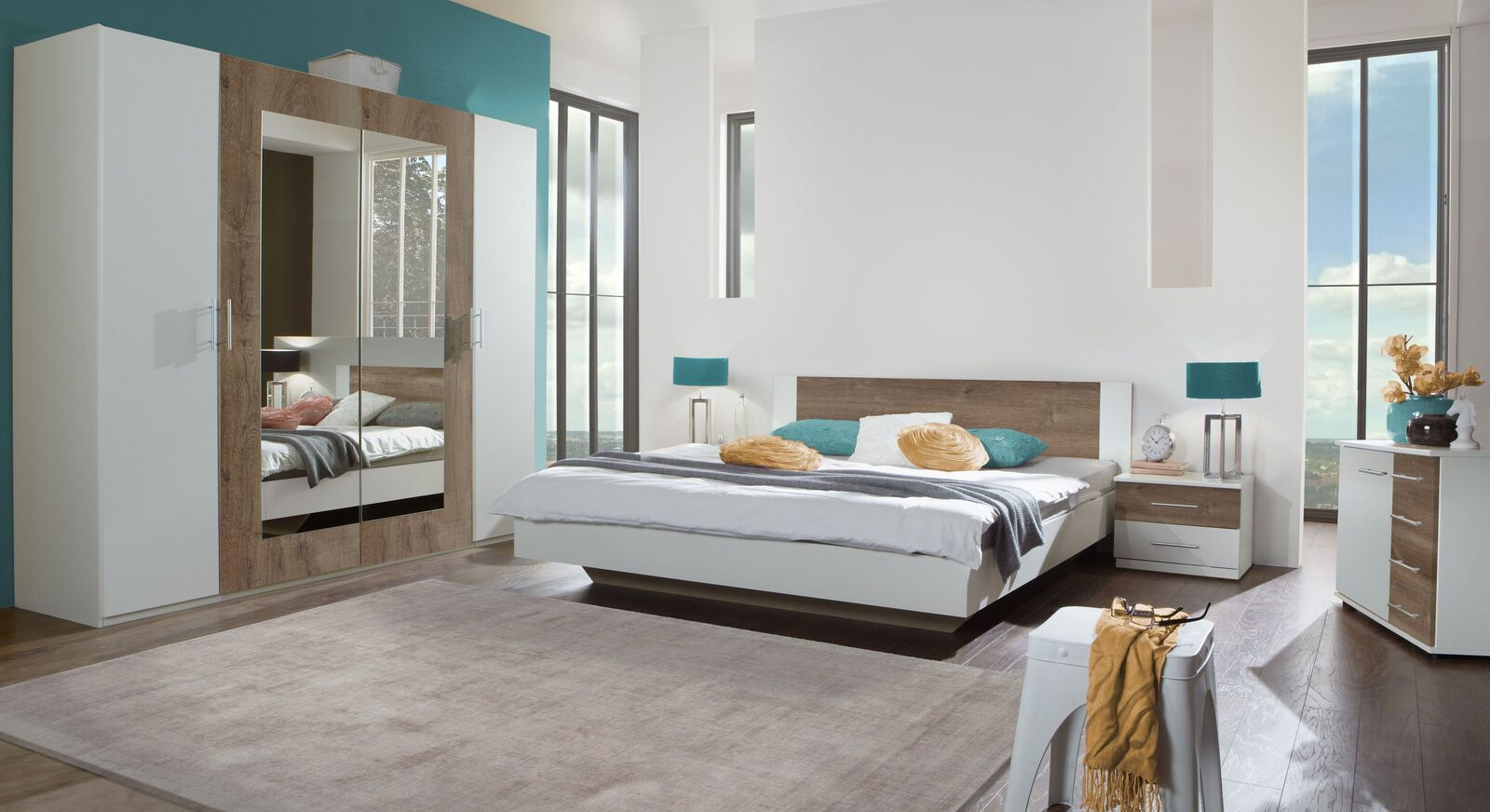 Komplett-Schlafzimmer Kenva mit abgestimmten Möbeln