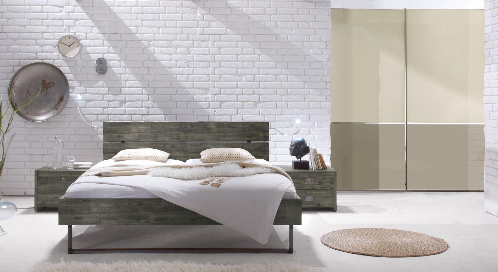 Komplett-Schlafzimmer Konna im Industrial-Style
