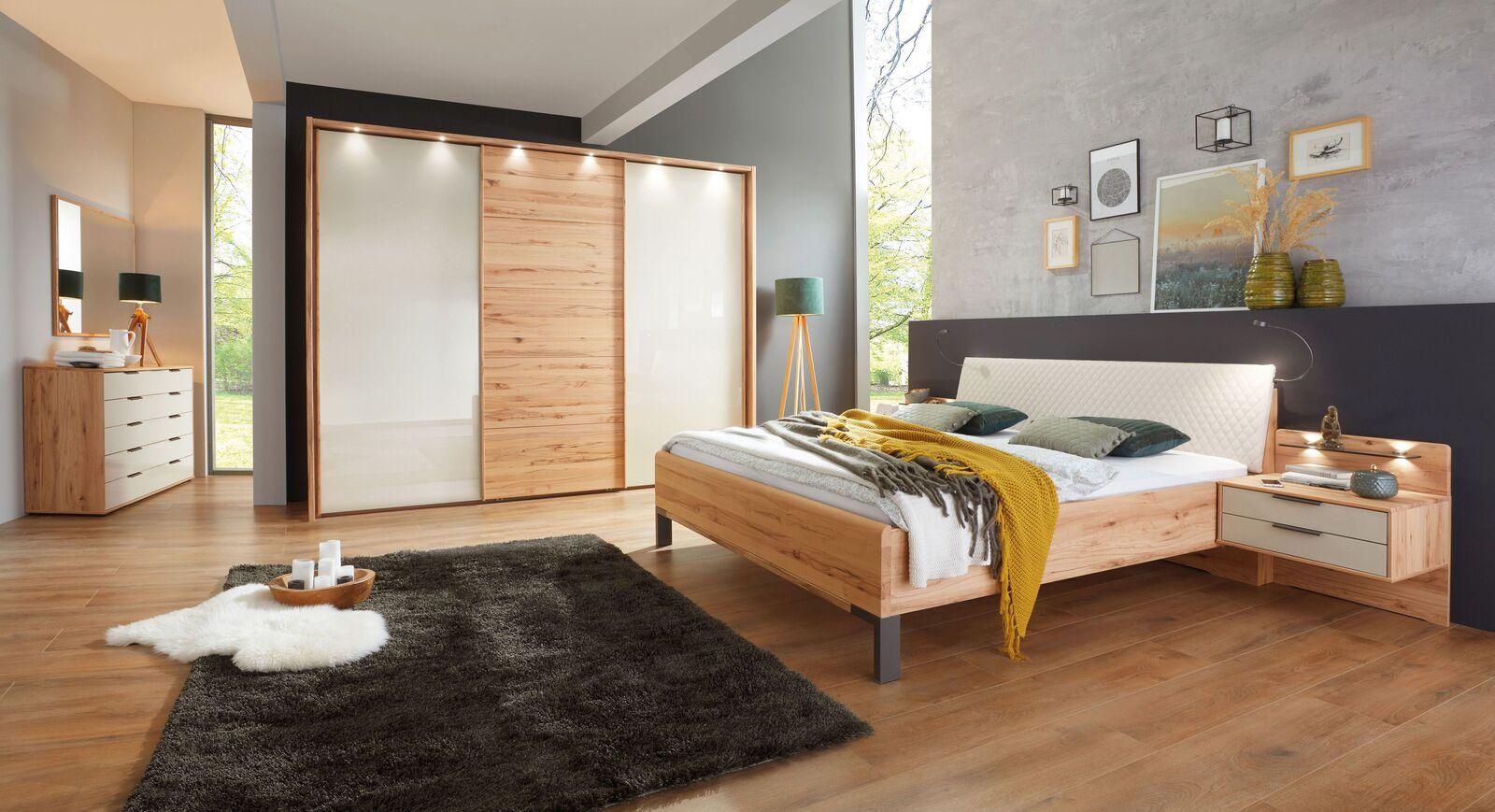 Komplett-Schlafzimmer Leandra mit modernen Möbeln