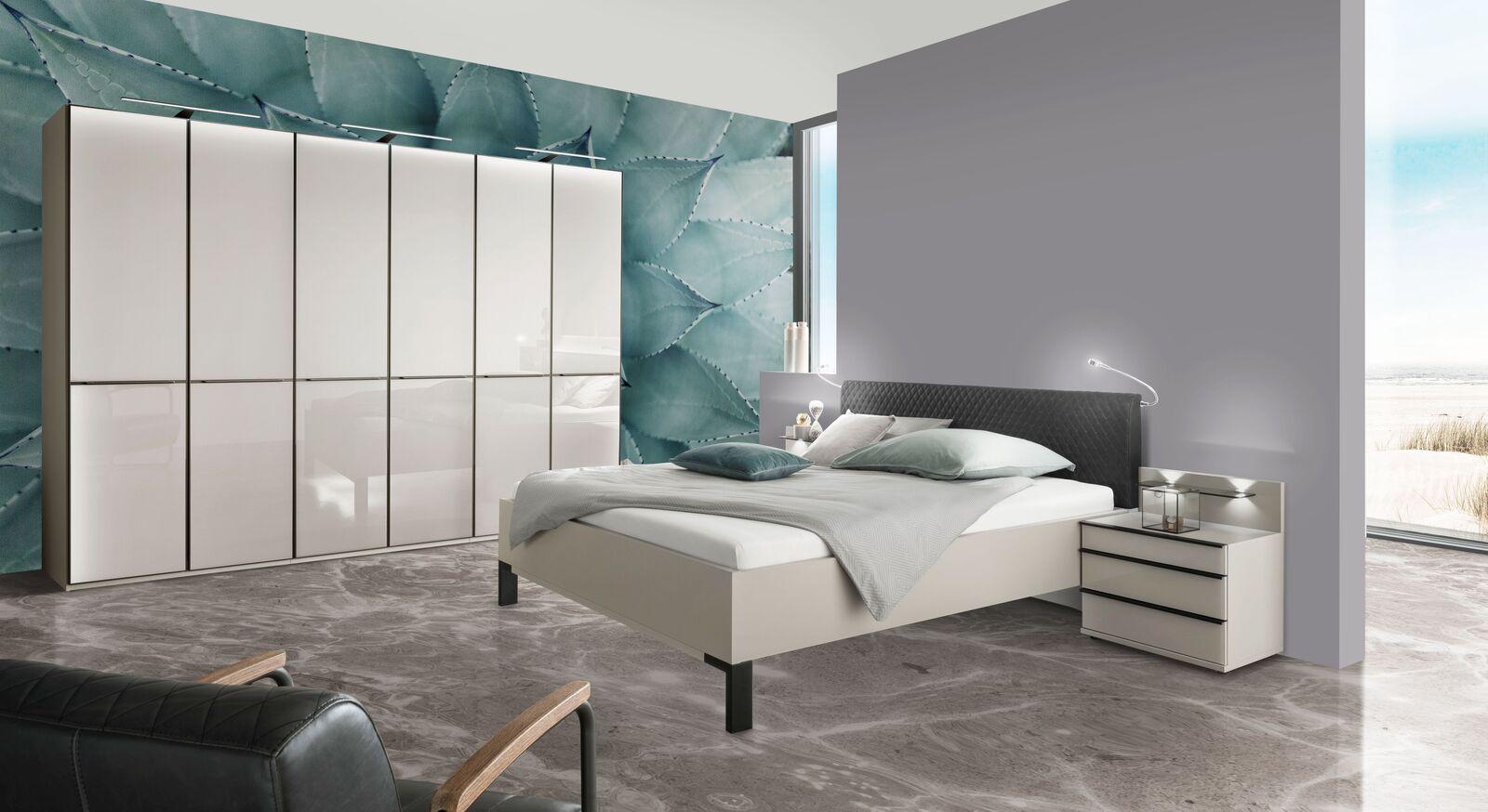 Modernes Komplett-Schlafzimmer Loyd mit Drehtüren-Kleiderschrank