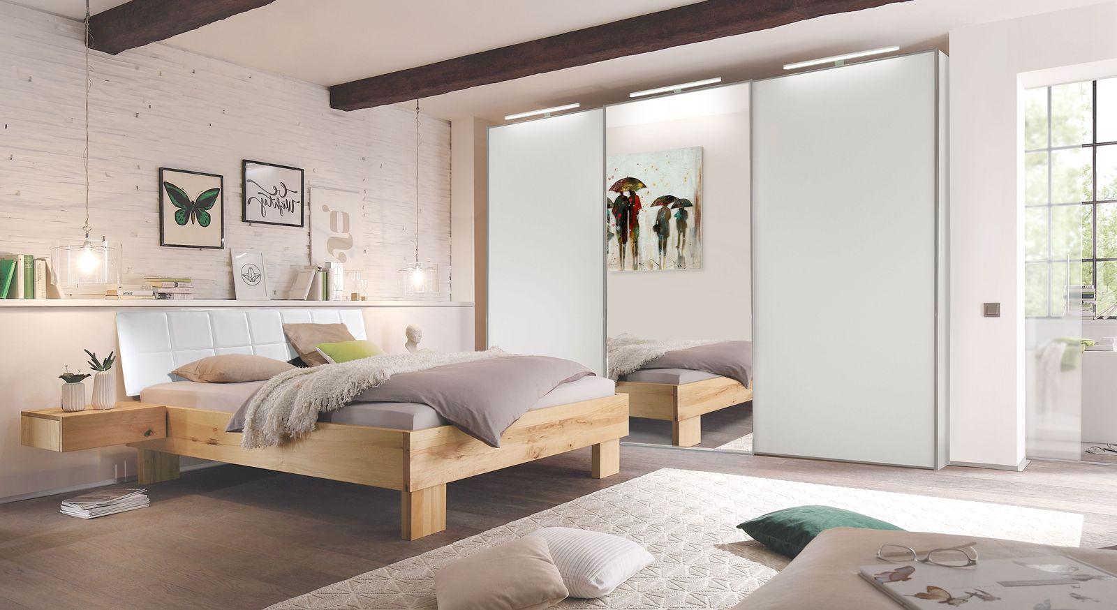 Komplett-Schlafzimmer Nemea mit Wildbuche-Bett