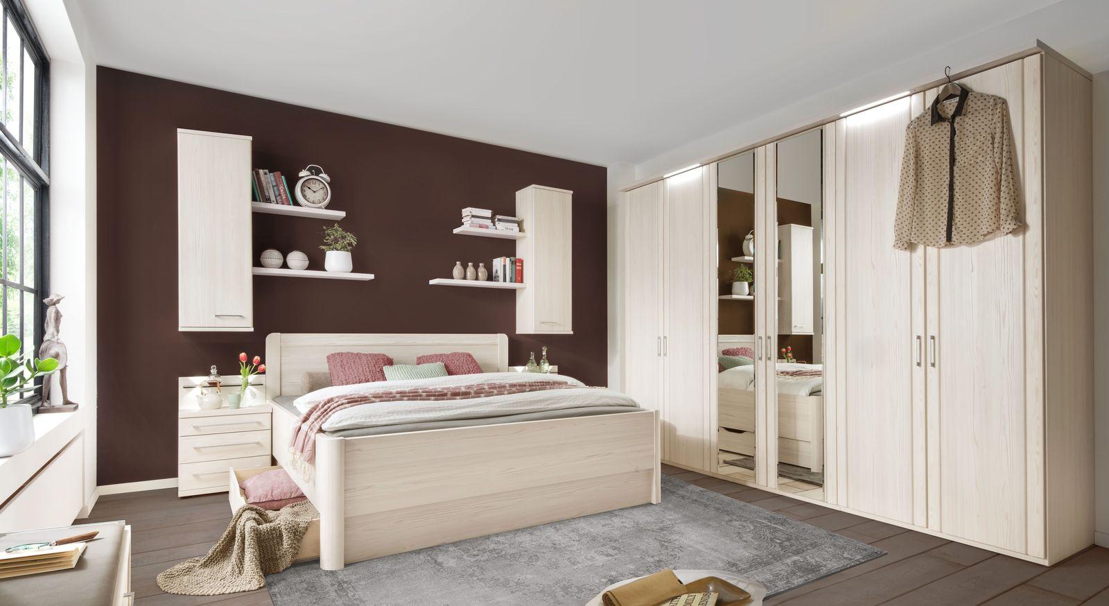 Komplett-Schlafzimmer in Polar-Lärche Dekor