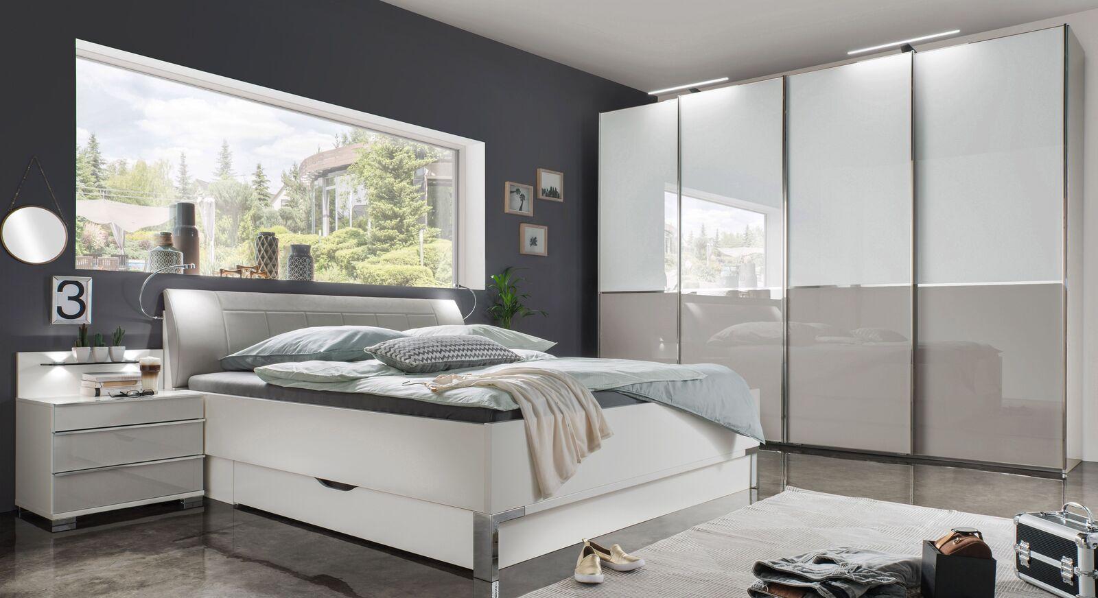 Komplett-Schlafzimmer Shanvalley mit alpinweißen Produkten