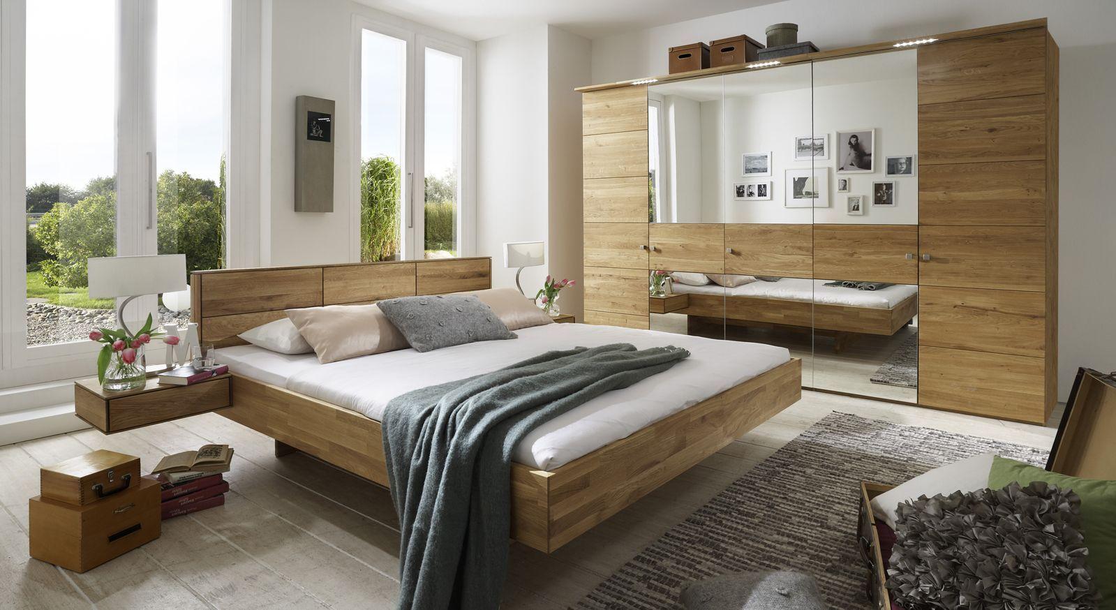 Komplett-Schlafzimmer aus massiver Wildeiche - Terrano
