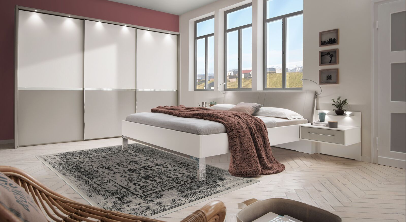 Komplett-Schlafzimmer Tulsa in angesagter Farbkombination