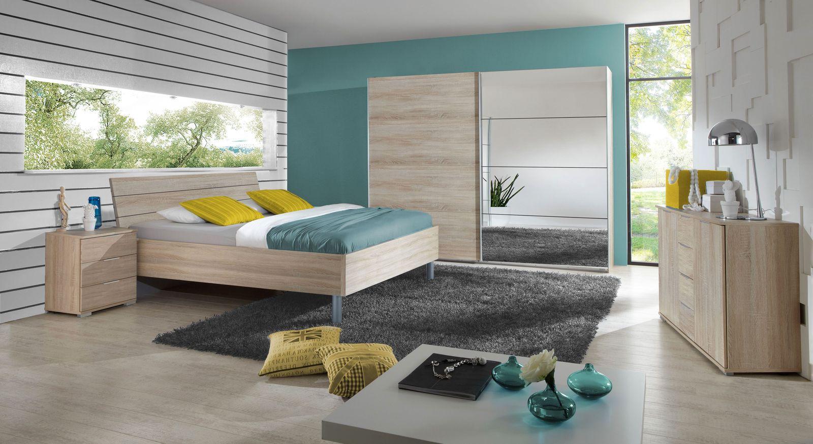 Komplett-Schlafzimmer Turania in Eiche sägerau