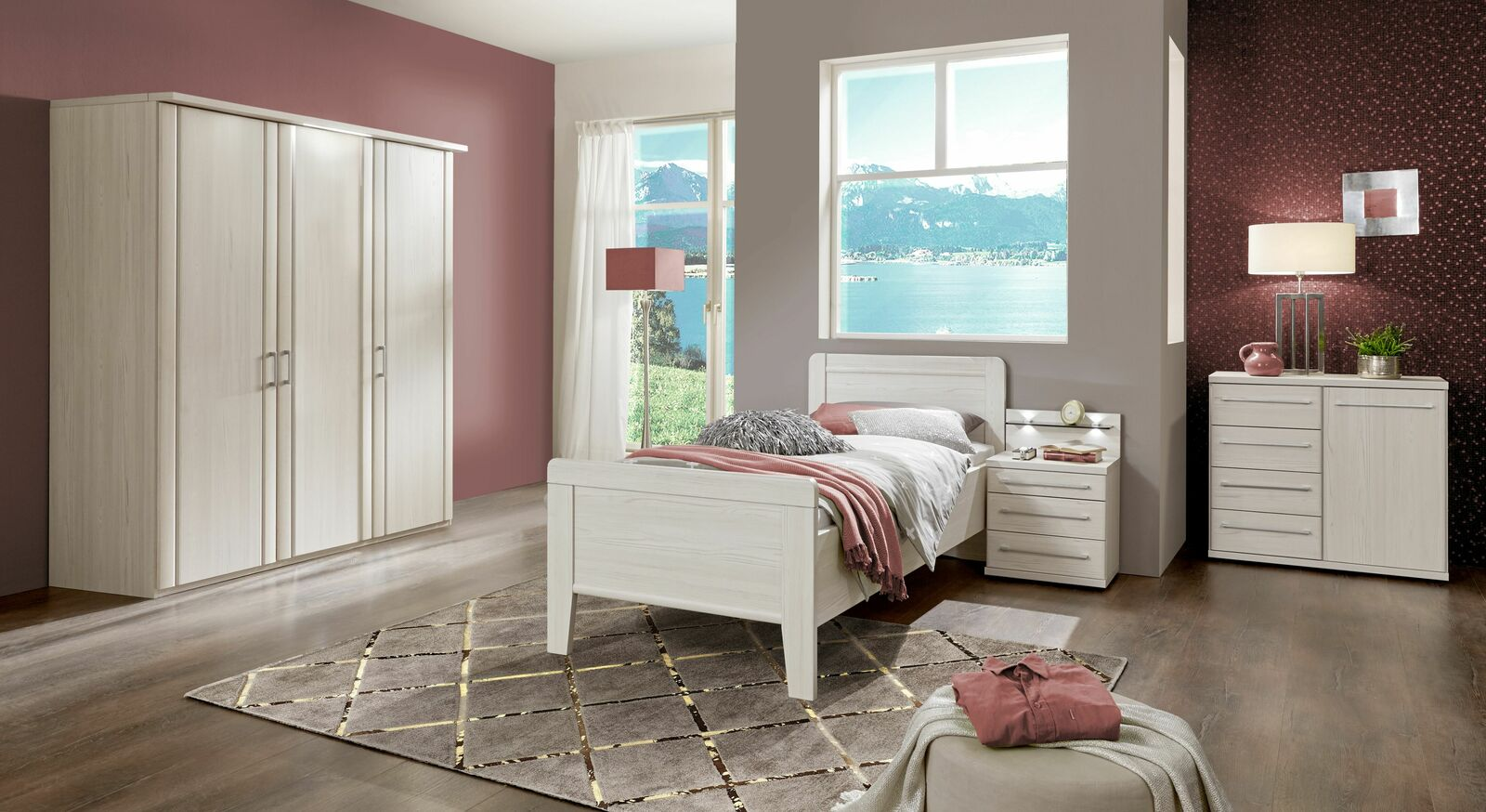 Komplett-Schlafzimmer Zeven in Polar-Lärche Dekor