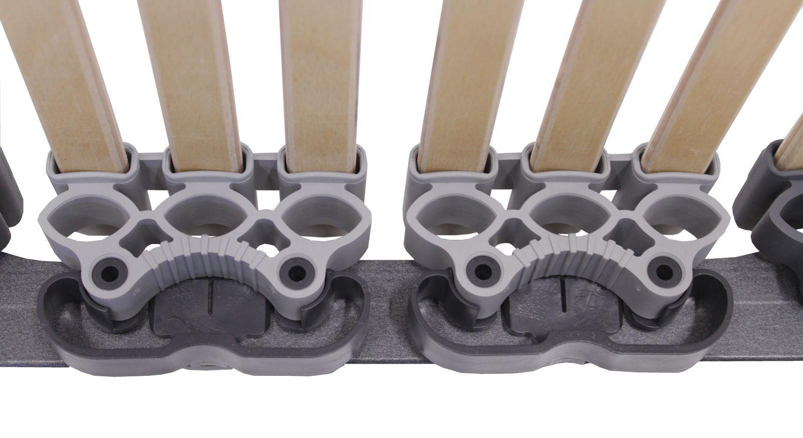 Lattenrost orthowell ultraflex mit flexiblen Trio-Kappen