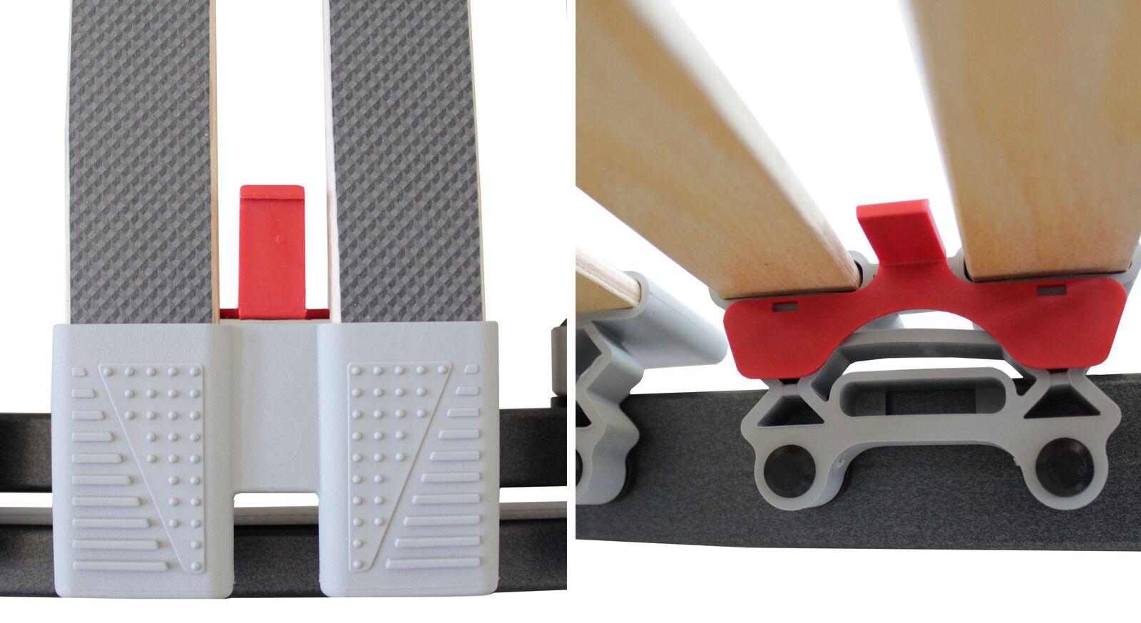 Praktische Härtestecker für Lattenrost orthowell ultraflex XL und XXL