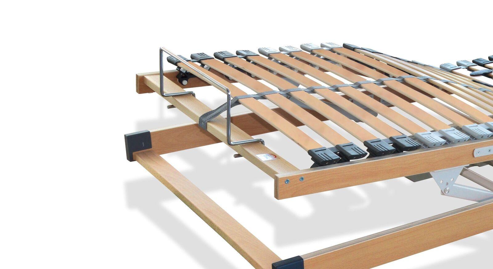 Lattenrost youSleep Motor mit Haltebügel am Fußende zur Matratzenfixierung