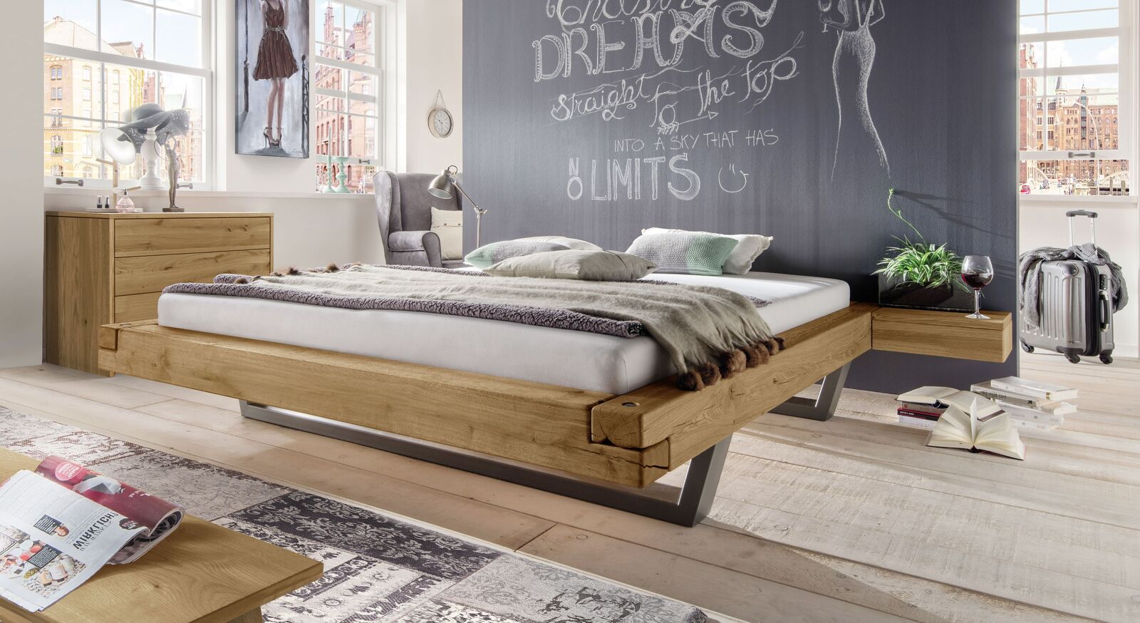 Liege Darica mit passenden Schlafzimmermöbeln