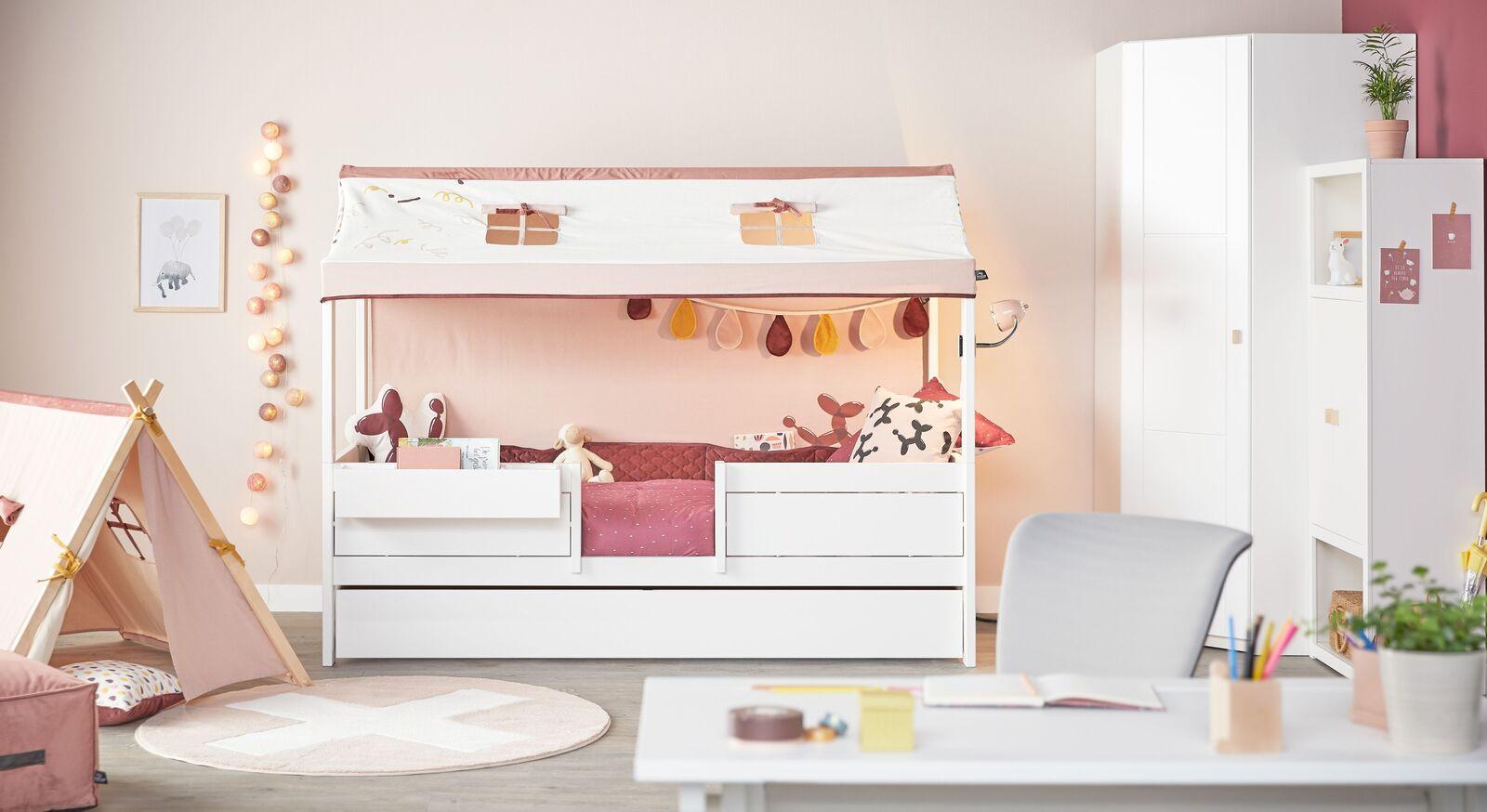 LIFETIME 4-in-1 Kinderbett Funland mit passenden Beimöbeln