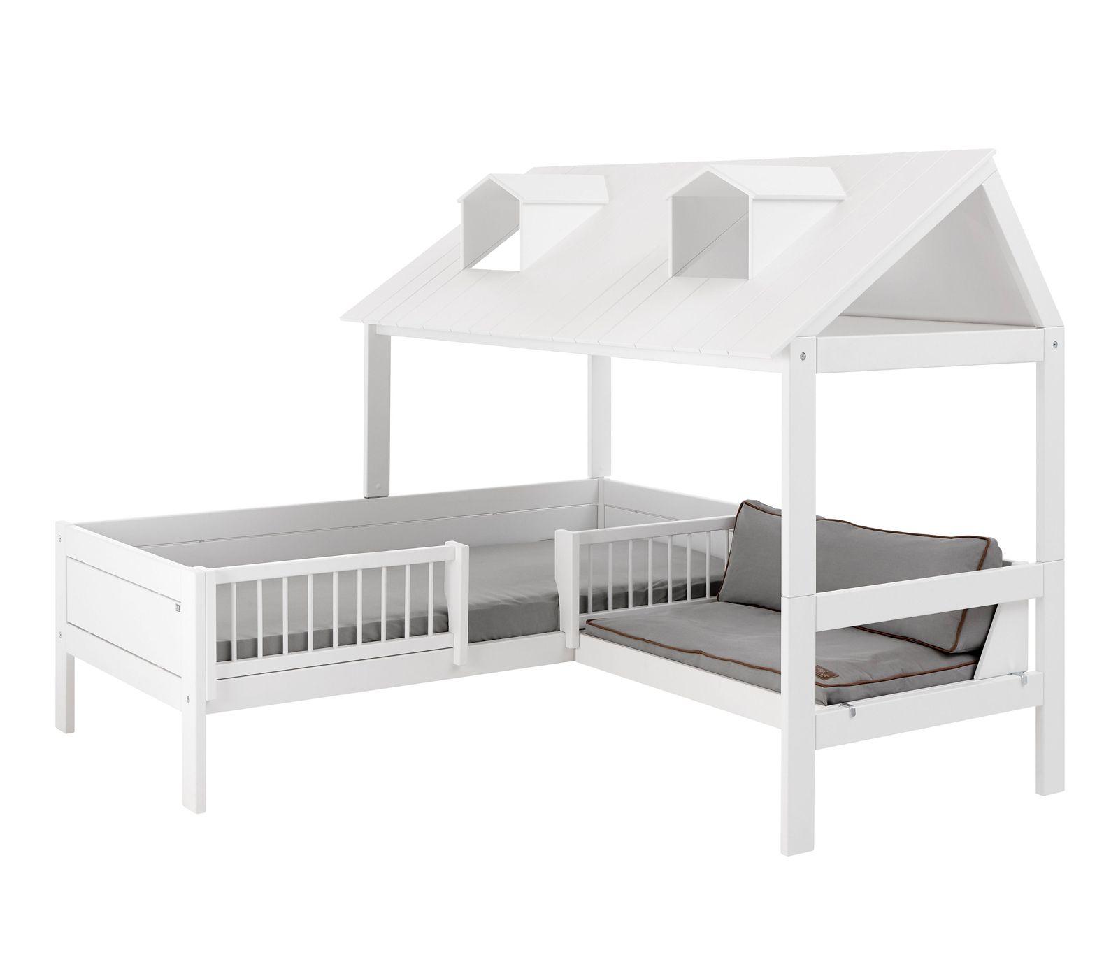 Lifetime Kinderbett Mit Angebautem Sofa Und Dach Ferienhaus
