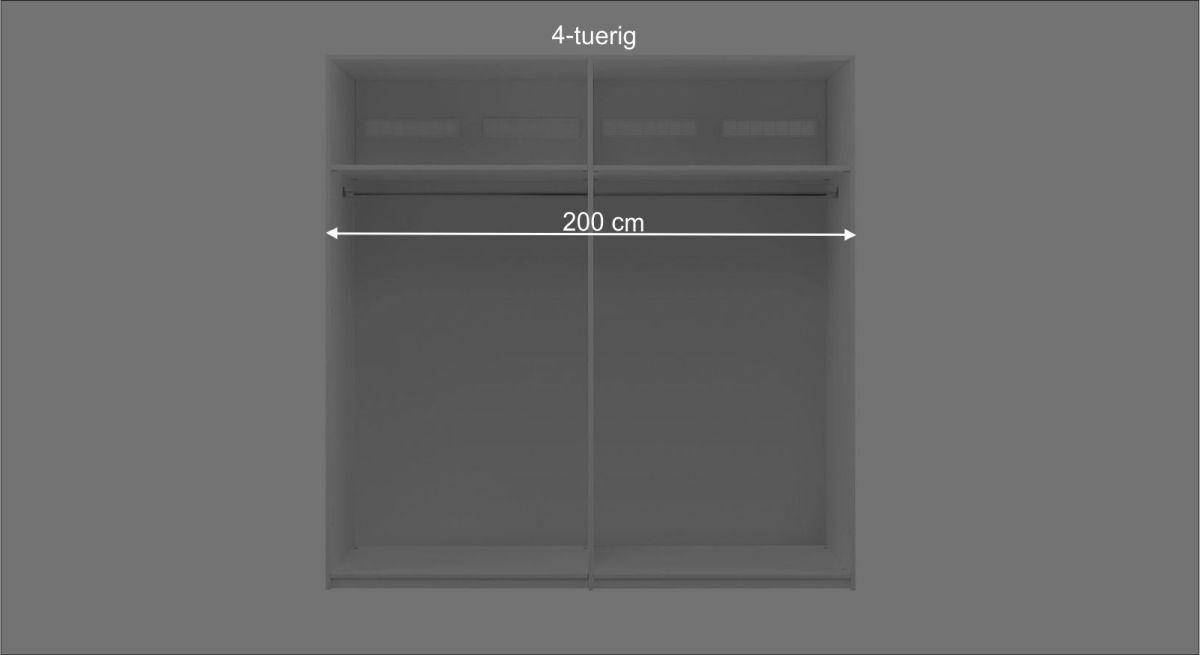 Schaubild der Maße des LIFETIME Drehtüren-Kleiderschranks Monina