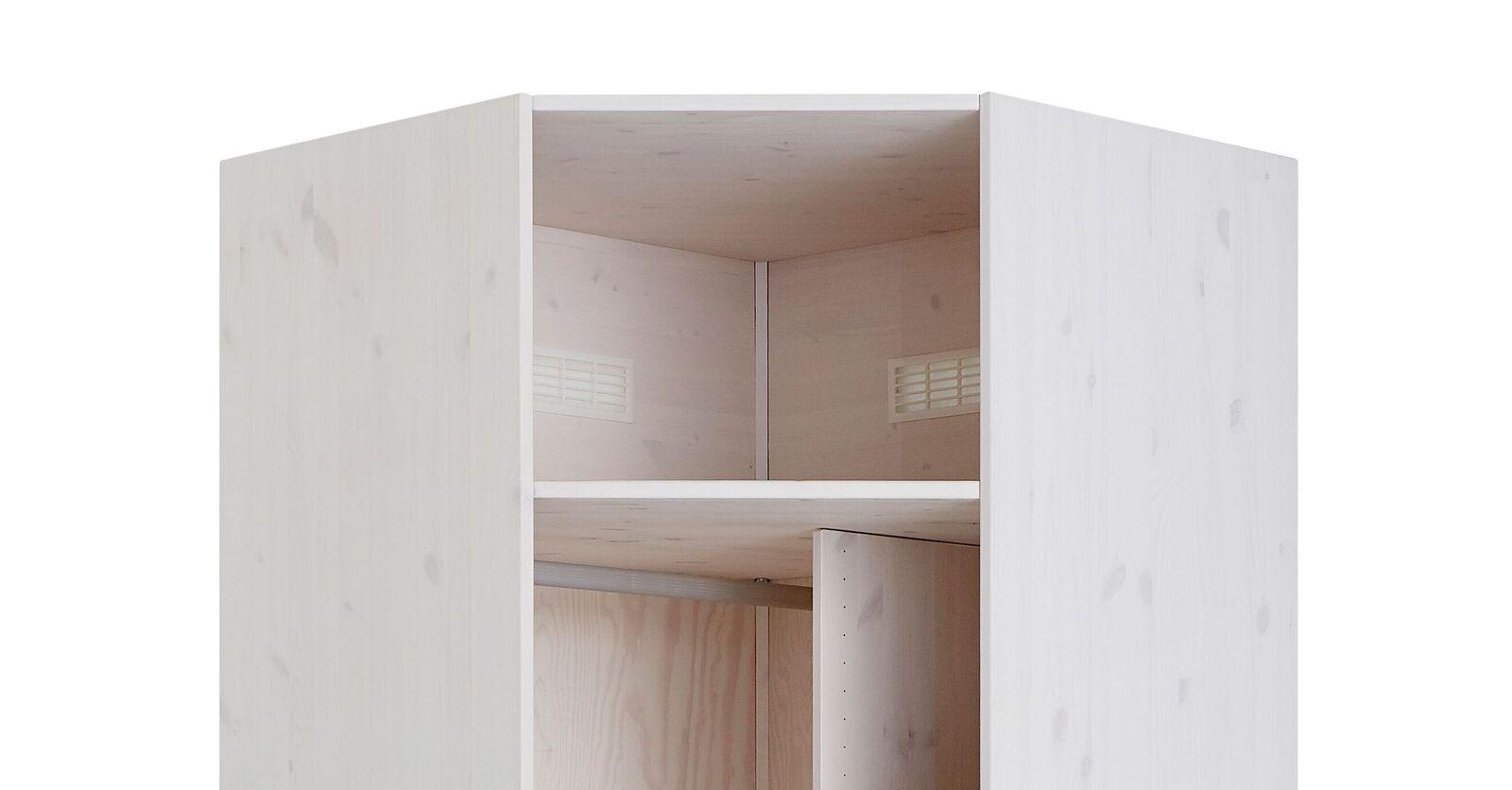 LIFETIME Eck-Kleiderschrank Original mit integriertem Lüftungssystem