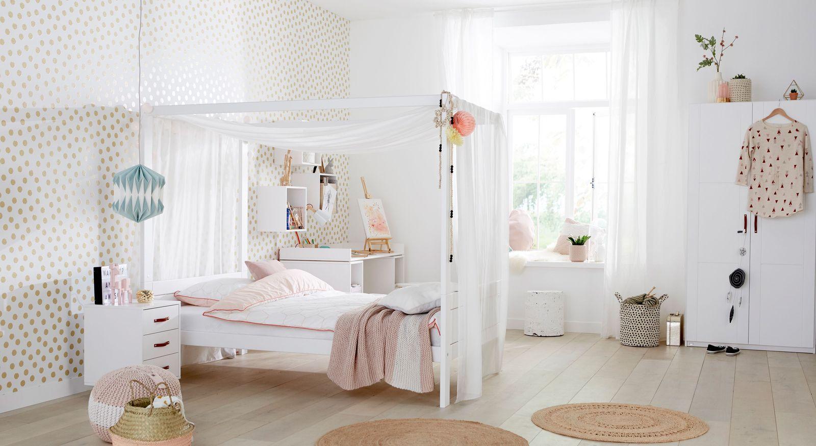 Jugendzimmer f r m dchen mit himmelbett von lifetime girls for Jugendzimmer reduziert