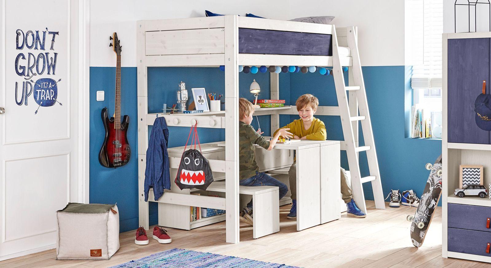 Qualitativ hochwertiges LIFETIME Hochbett Color aus Kiefer
