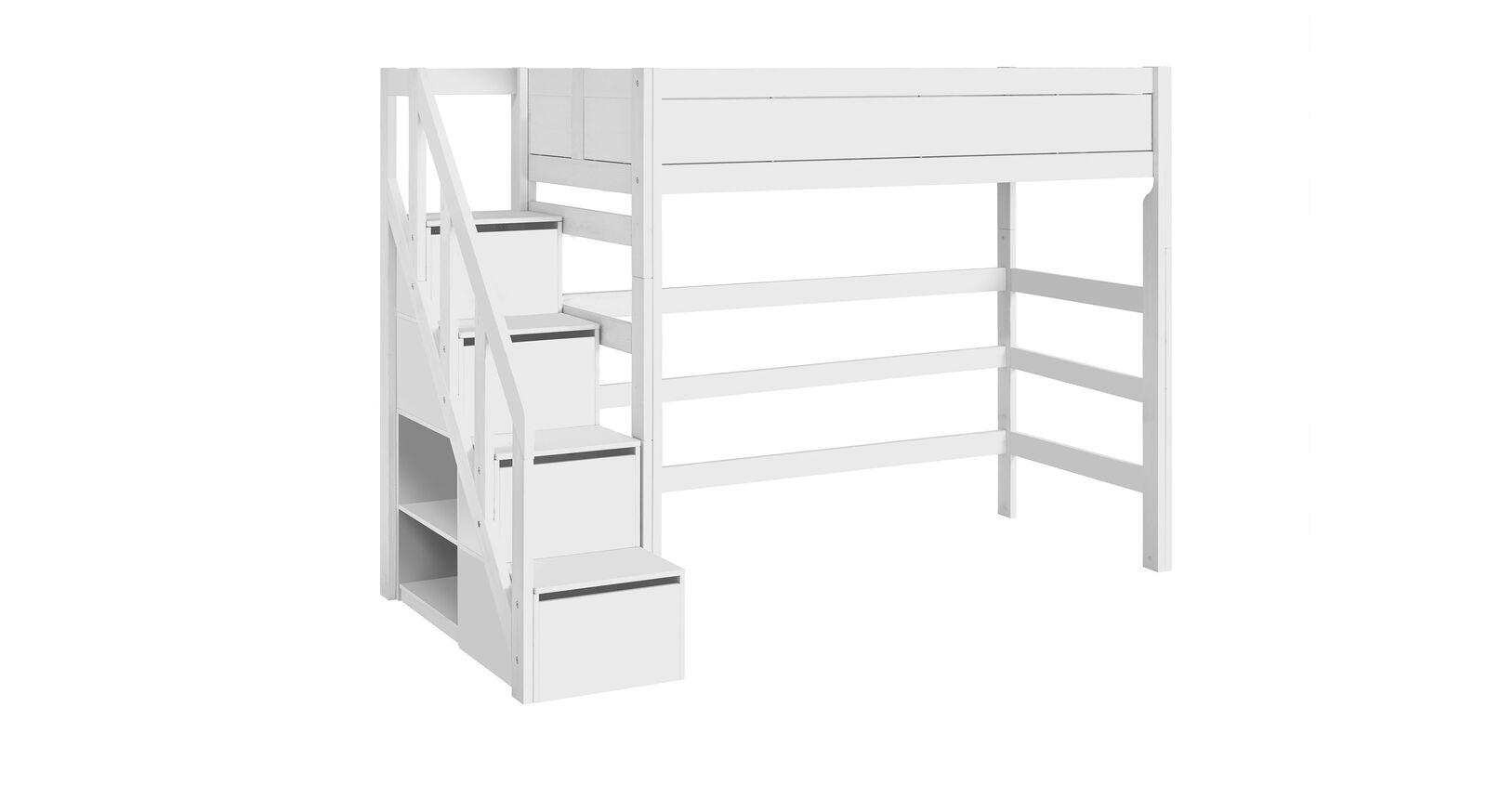 LIFETIME Hochbett Original in Weiß lackiert