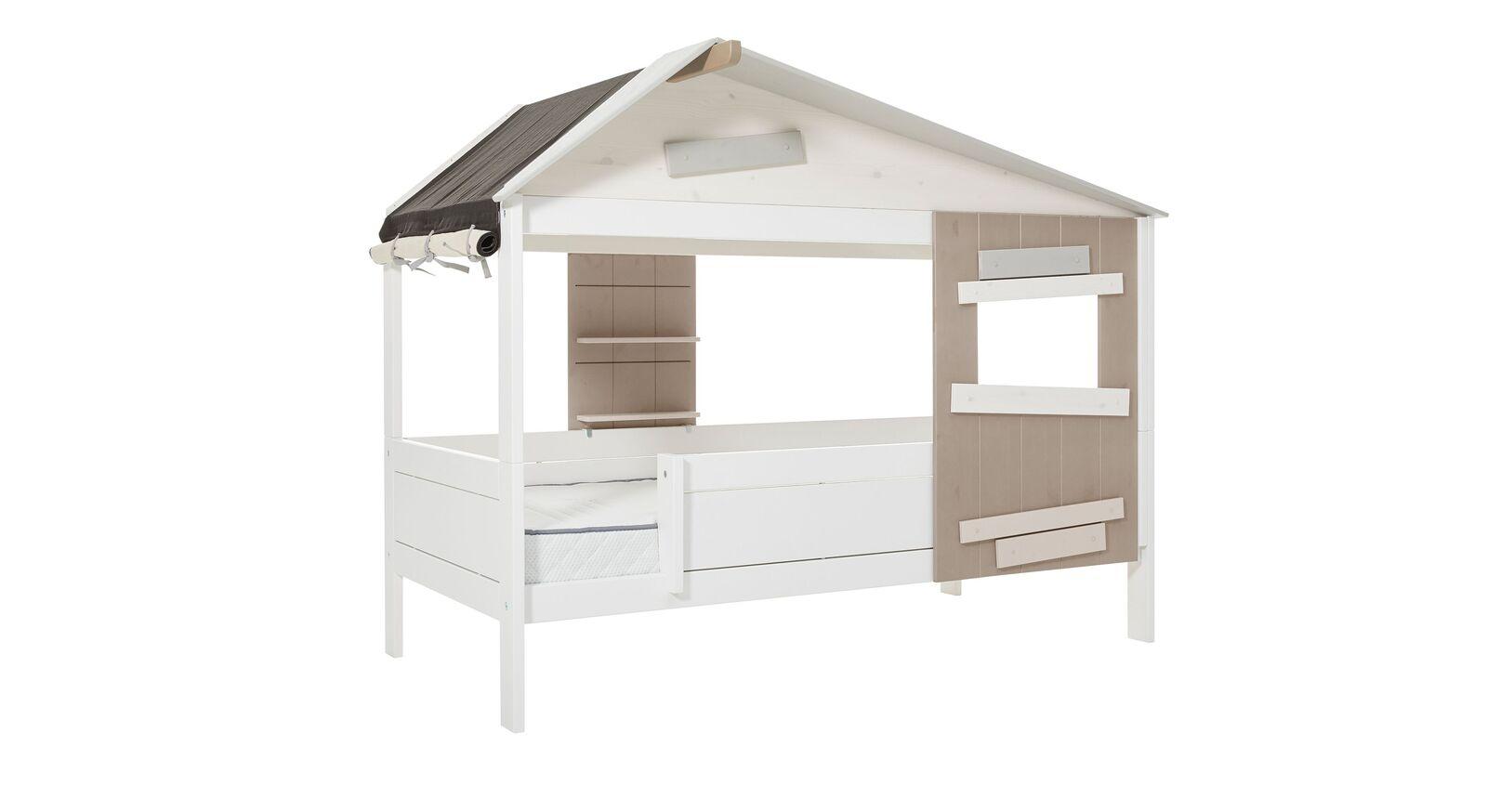 LIFETIME Hüttenbett Hideout in Weiß lackiert