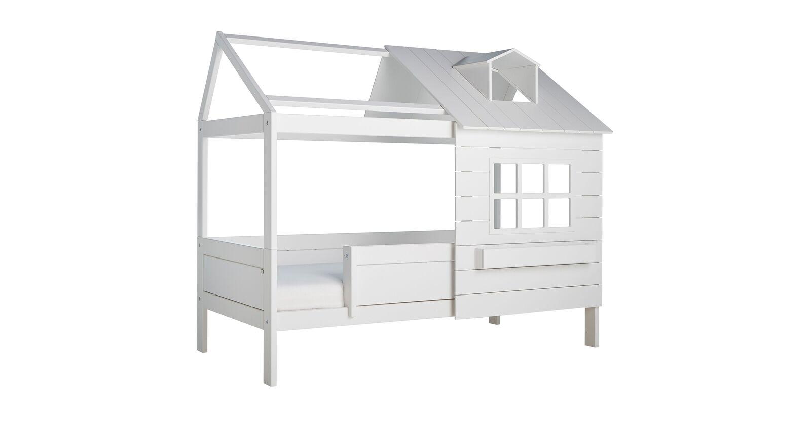LIFETIME Hüttenbett Lake House mit Fenster und Dachhälfte