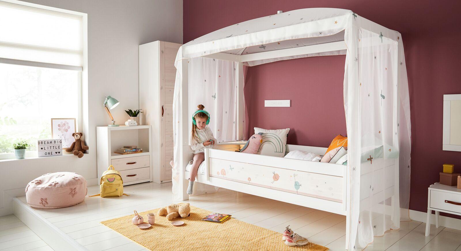 LIFETIME Kinder-Himmelbett Fairy Dust aus weißem Holz