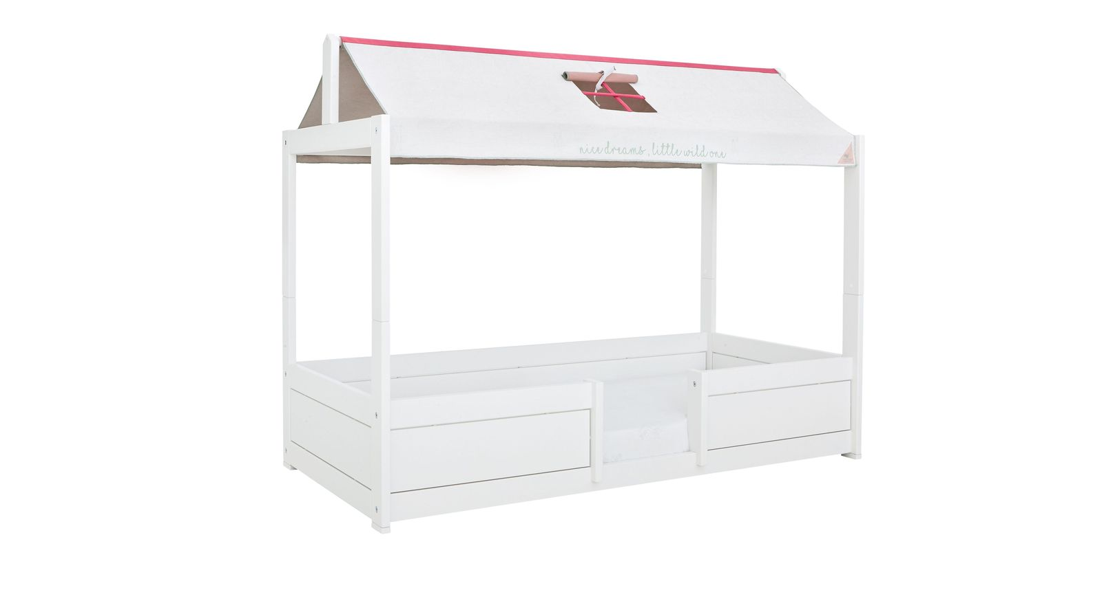 lifetime indianer-kinderbett 90x200 cm umbaubar - 4-in-1 sioux