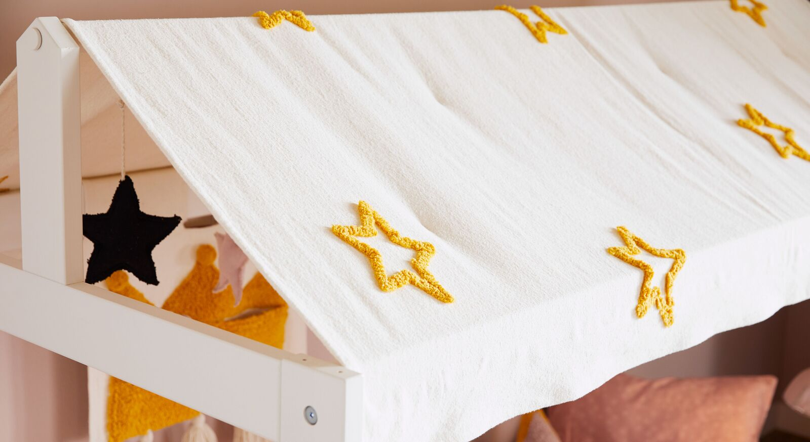 LIFETIME Kinderbett Princess Stars mit gemütlichem Dachhimmel