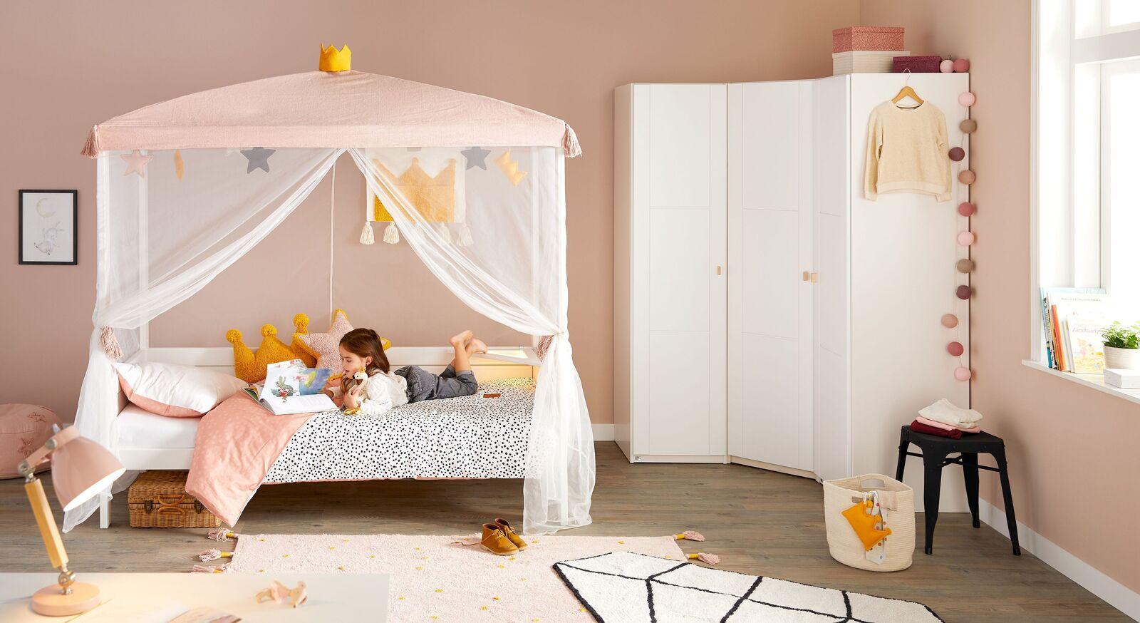 Modernes LIFETIME Kinderzimmer Princess mit Himmelbett