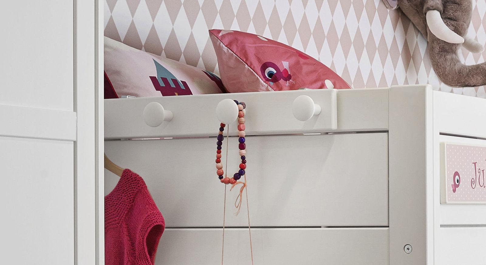 LIFETIME Kleiderhakenleiste am Bett einfach zu montieren
