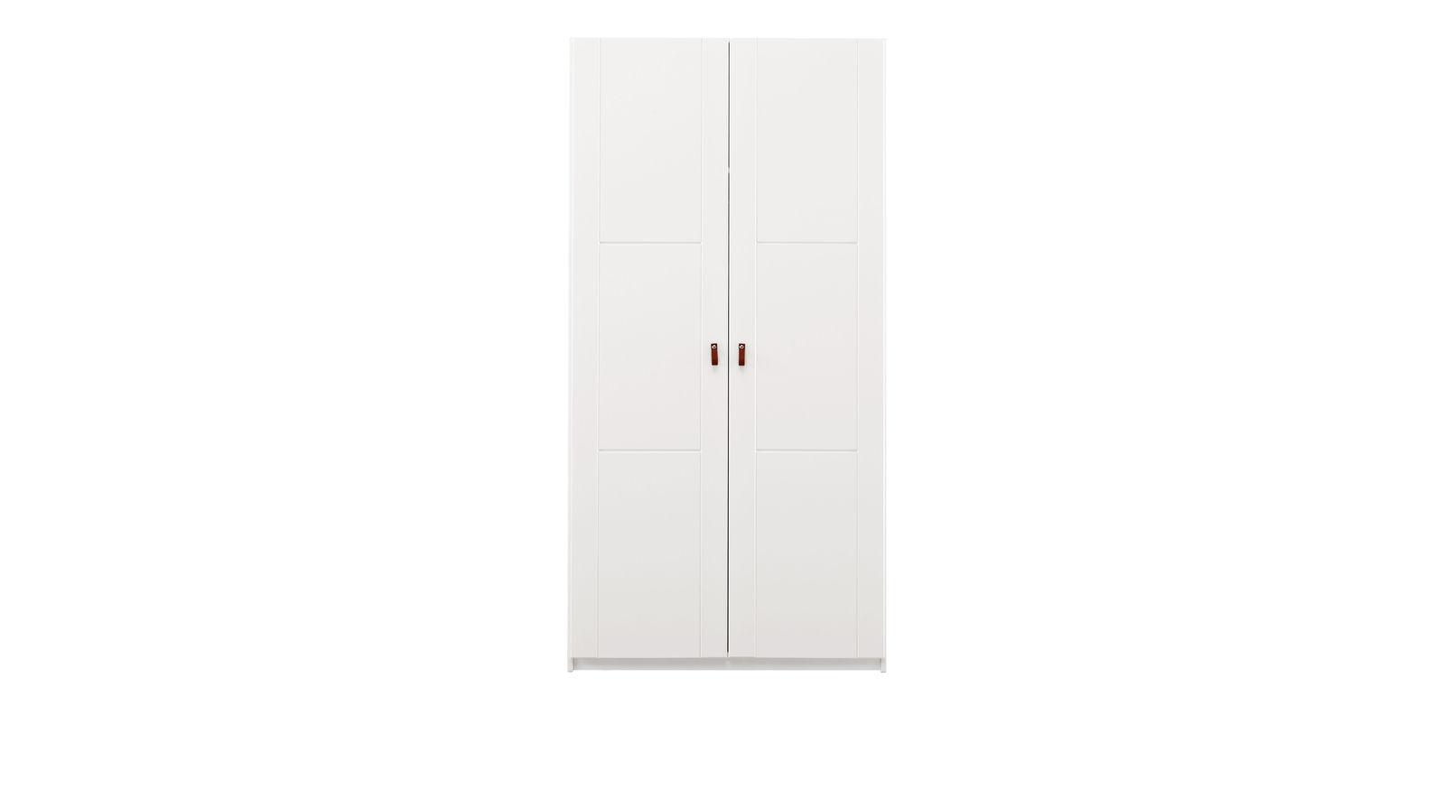 Weißer LIFETIME Kleiderschrank Monina mit 2 Drehtüren