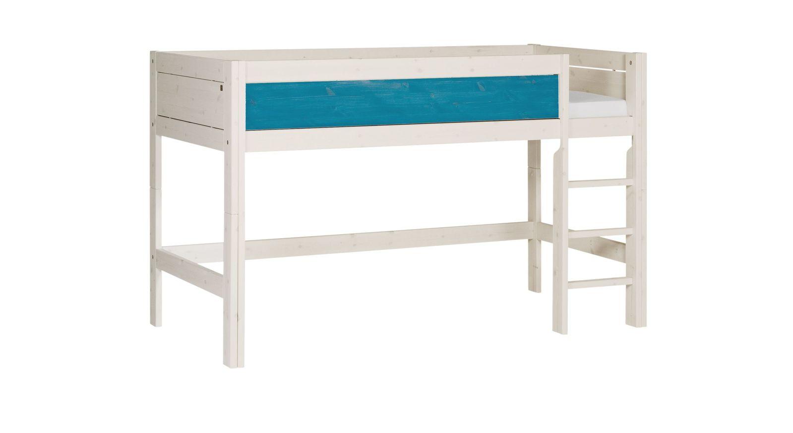 LIFETIME Midi-Hochbett Color mit blau lasierter Frontfüllung