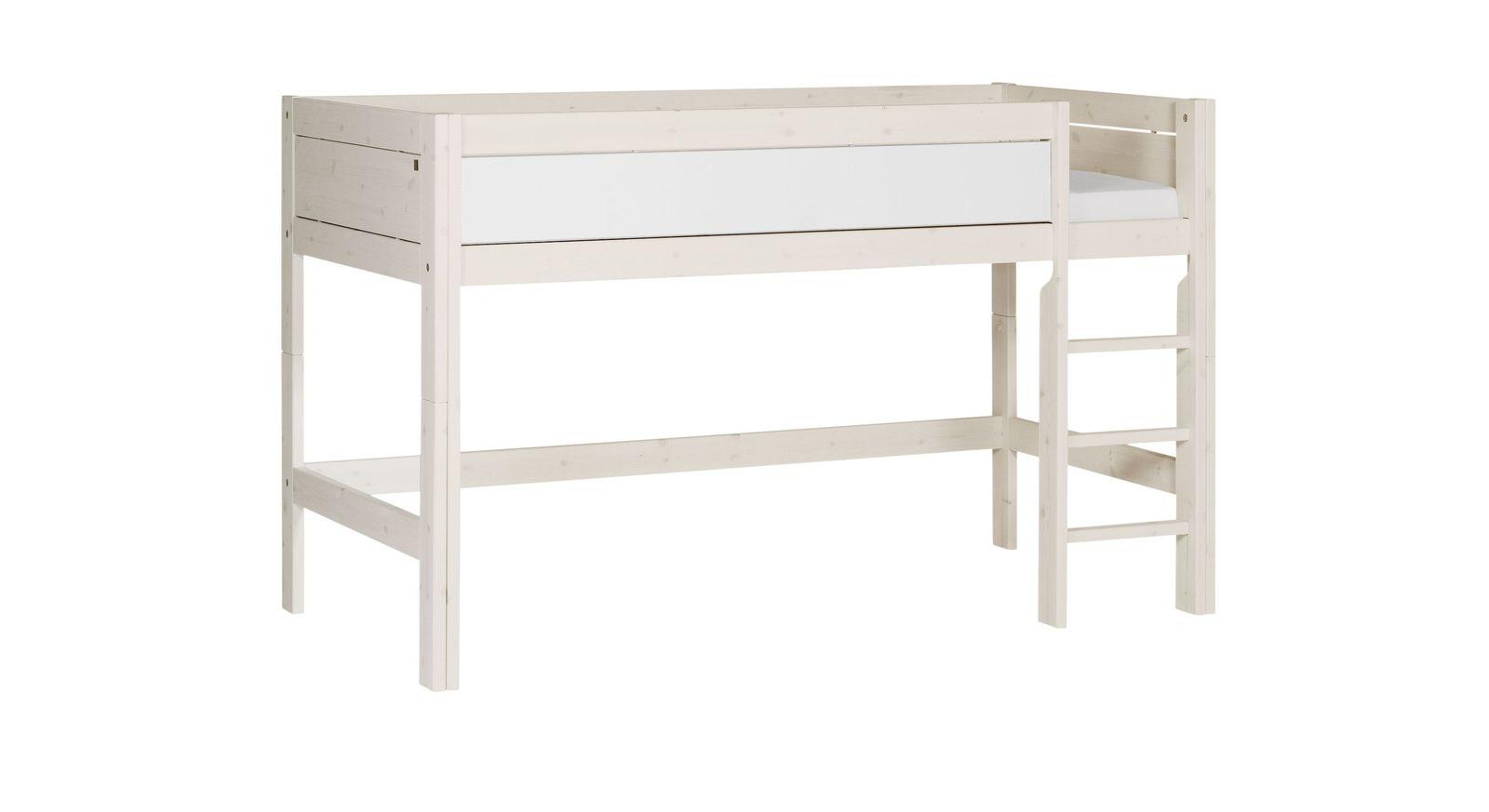 LIFETIME Midi-Hochbett Color mit weiß lackierter Frontfüllung
