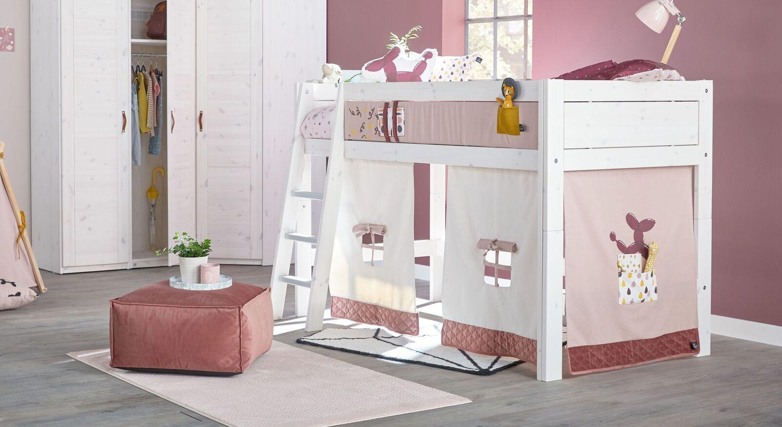 LIFETIME Midi-Hochbett Funland für Mädchenzimmer