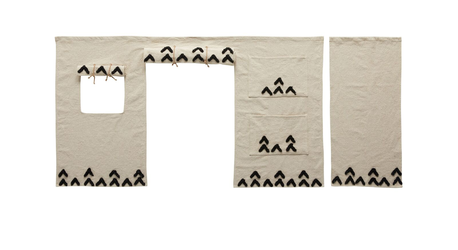 LIFETIME Midi-Hochbett Wild Life mit jutefarbenem Vorhang
