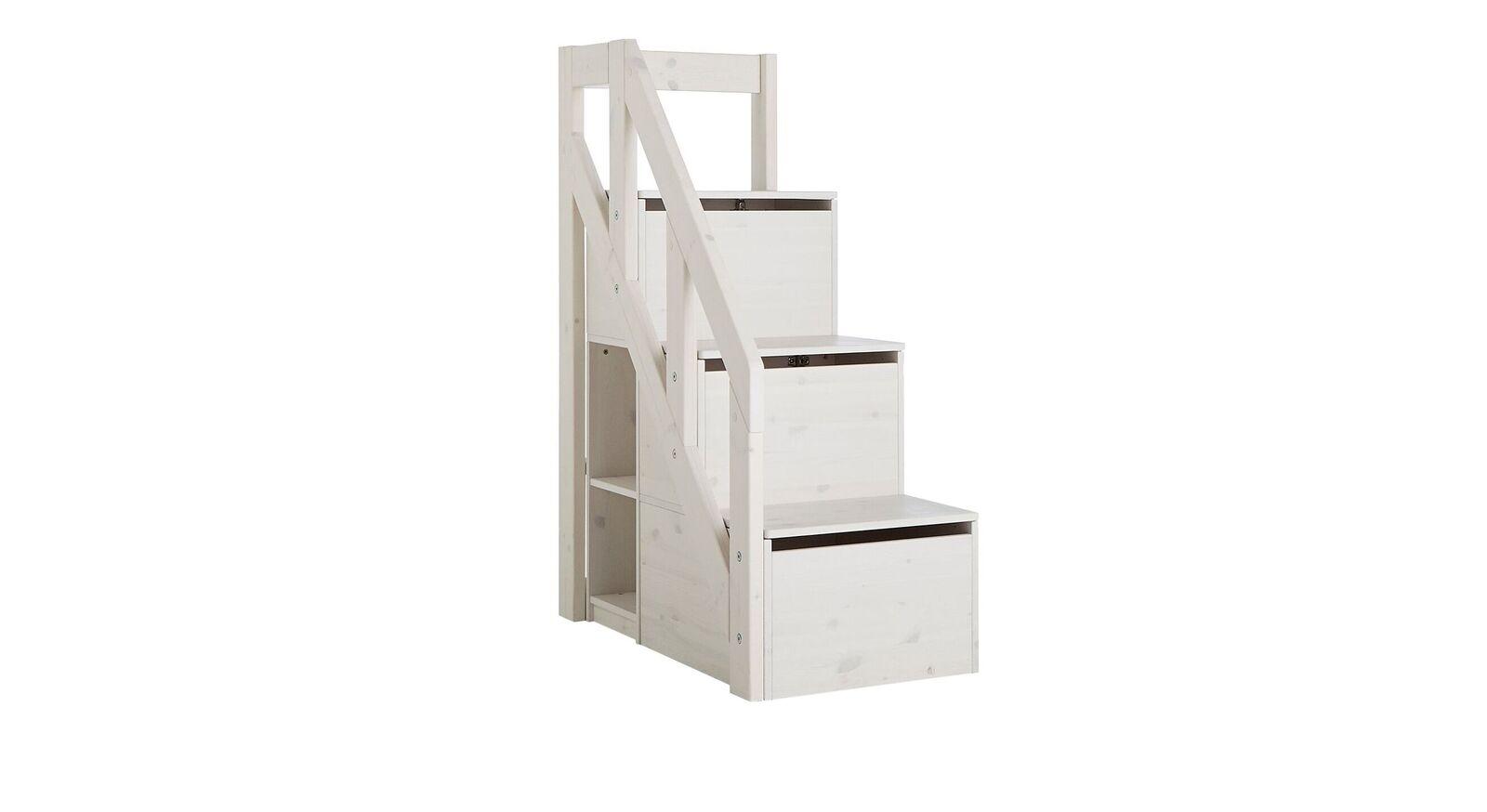 LIFETIME Midi-Hüttenbett Hideout mit hochwertigem Treppenmodul