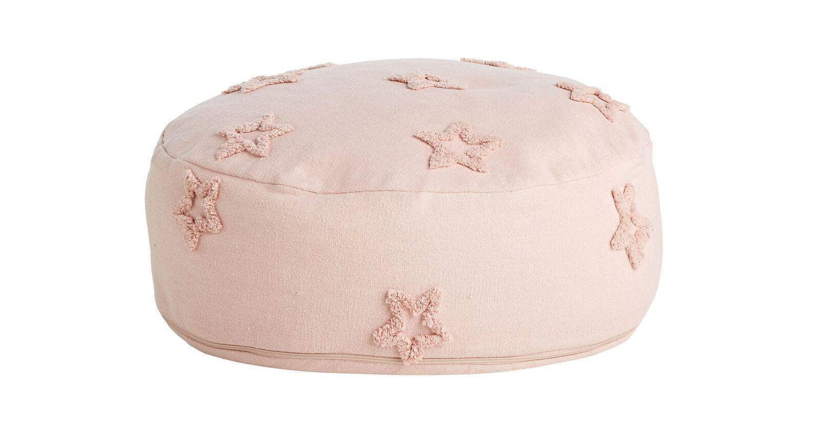 Rosefarbenes LIFETIME Sitzkissen Princess mit Sternen
