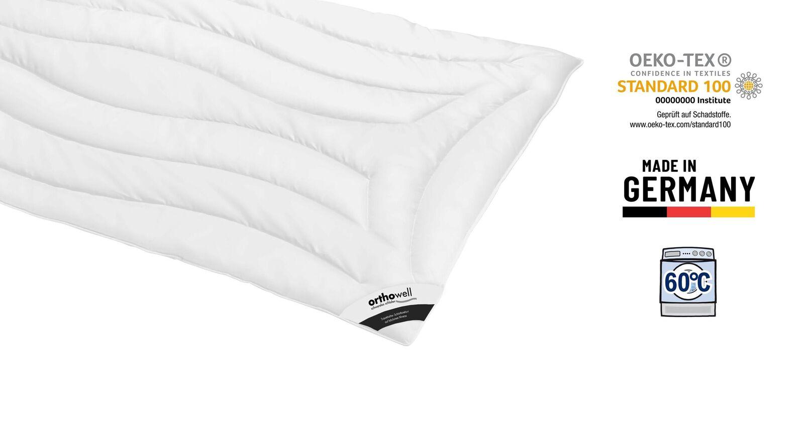 Markenfaser-Bettdecke orthowell Superior medium Öko-Tex zertifiziert