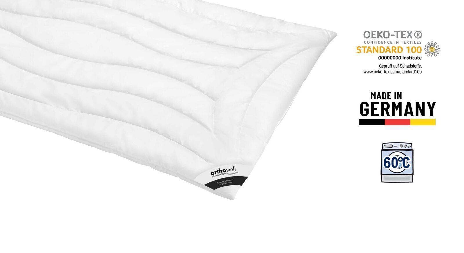 Markenfaser-Bettdecke orthowell Superior warm Öko-Tex zertifiziert